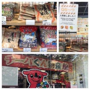 千葉駅にあるチーバくん物産館に売っているQなっつ