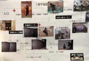 伊賀ドラ忍者館のからくり部屋の案内図