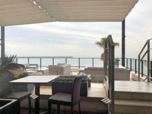 ザ・オーシャンテラスのレストランから見た海の景色