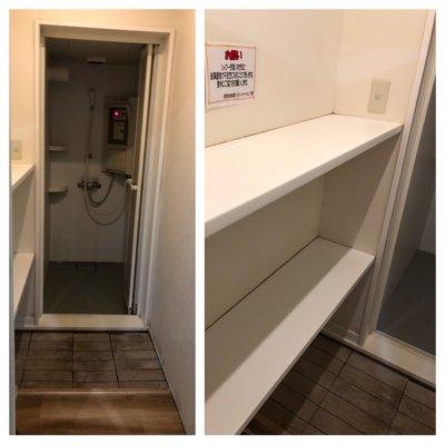 成田ゆめ牧場のシャワー室