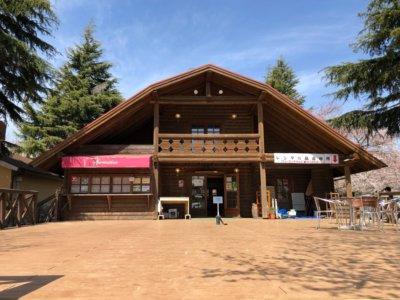 成田ゆめ牧場のログハウス