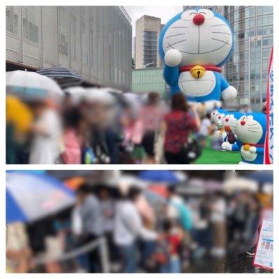 テレビ朝日夏祭り2019年のスカイフードテラスのバラエティ食堂の混雑状況