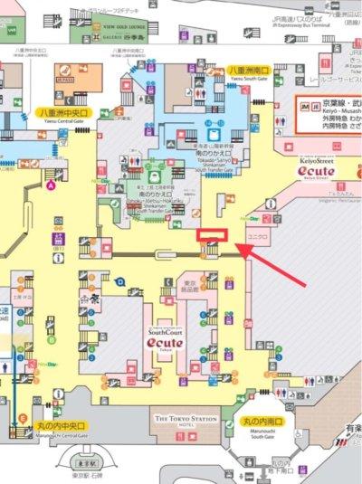 「ディズニー スイーツコレクションby 東京ばな奈」JR東京駅店の場所